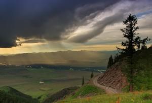 Вид на долину Бухтармы со Старой Австрийской дороги