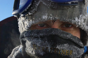 Немного холодно на Поднебесных Зубьях, зима, сибирская тайга