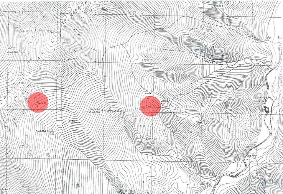 Поиск тайной базы атамана Соловьева, Siberian Expeditions.  Карта синька Поднебесных Зубья
