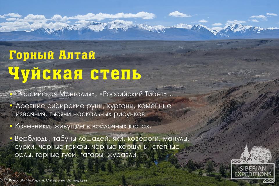 Горный Алтай, Чуйская степь