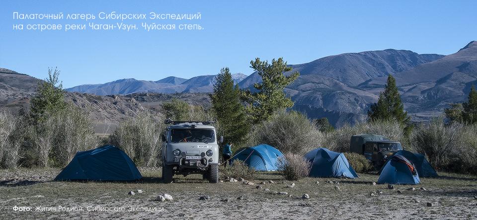Горный Алтай, Чуйская степь, остров на реке Чаган Узун