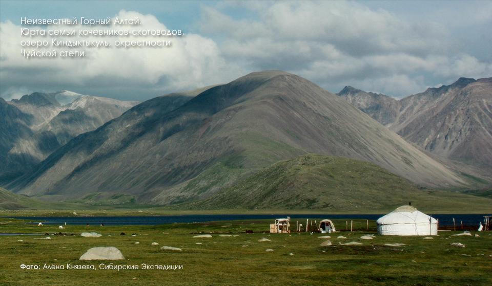 Киндыктыкуль, юрта скотоводов, Горный Алтай