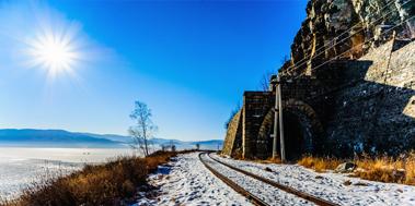 Байкальский лед, Кругобайкальская железная дорога