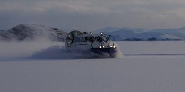 Байкальский лёд, на хивусах по Байкалу