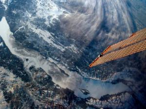 Зимний Байкал, вид сверху