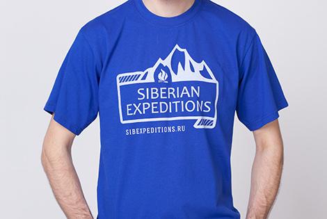Оригинальная футболка Siberian Expeditions синяя