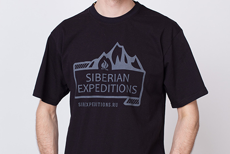 Оригинальная футболка Siberian Expeditions чёрная