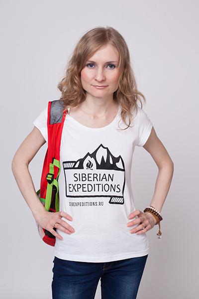 Оригинальная женская футболка Siberian Expeditions