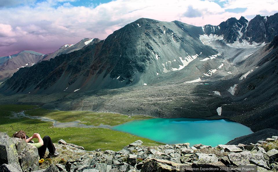 Горный Алтай, вид с склонов перевала Ажу