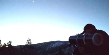 Обсерватория в Архызе, вечерние наблюдения за Луной