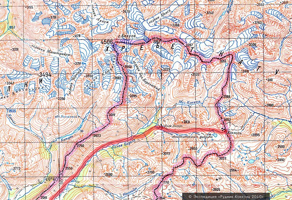 карта нахождения рудника Кокколь