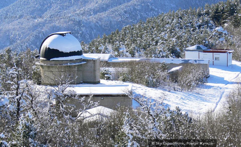 Обсерватория в Архызе, зима