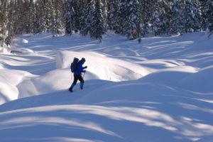 Поход по сибирской тайге на лыжах, Поднебесные Зубья зима