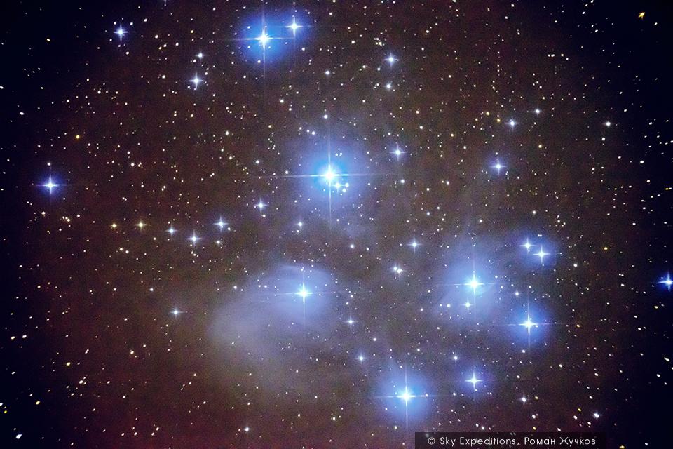 M45, Плеяды, астрофотография
