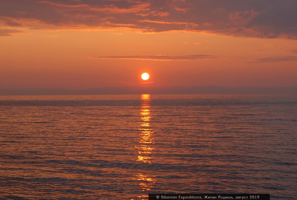 Байкал, закат над Байкалом
