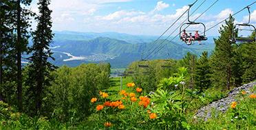Алтай в июне, Манжерок