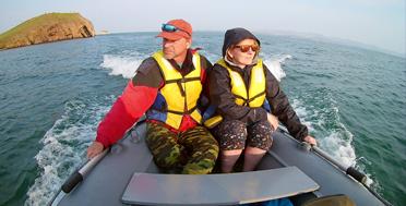 По Малому Морю на лодке, Байкал