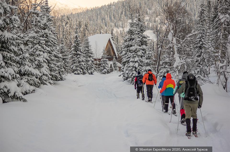 Лыжный тур, Сибирь, Поднебесные Зубья. Первый день, идем налегке