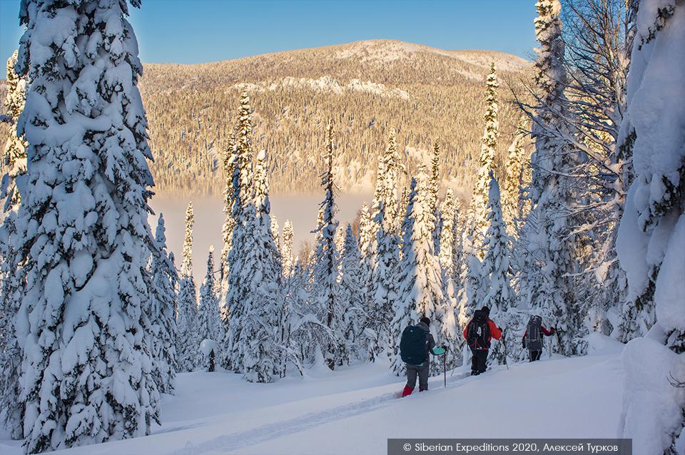 Лыжный тур 2020 по Сибири, Поднебесные Зубья. Тропим