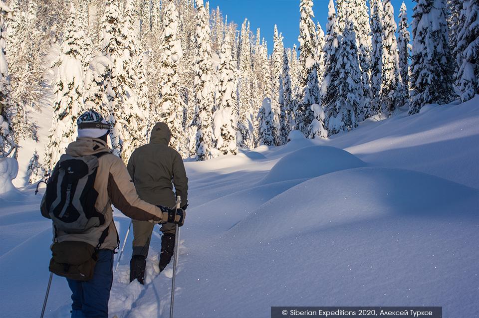 Лыжный тур по Сибири, Поднебесные Зубья