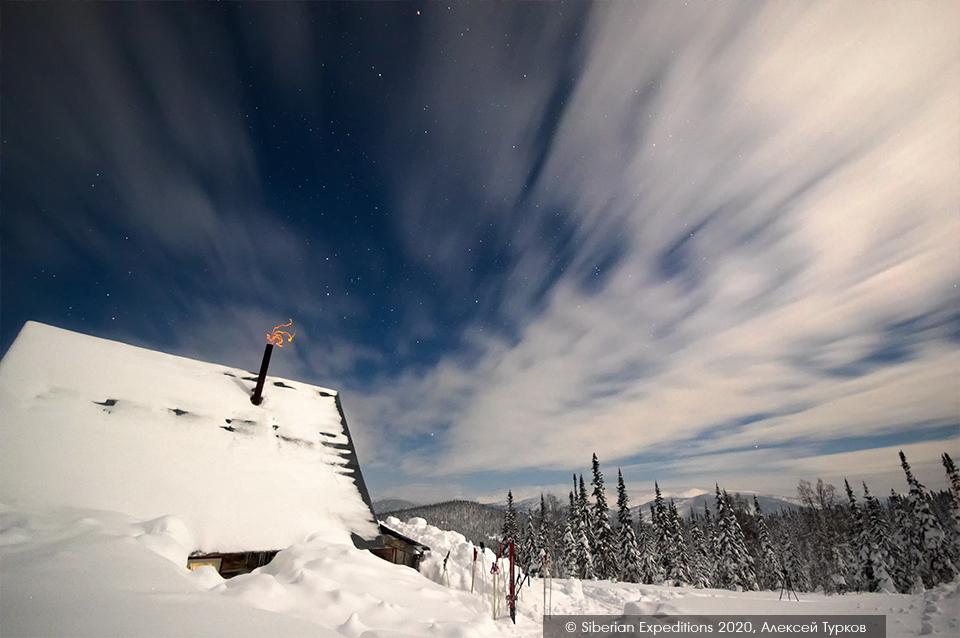 Лыжный тур 2020 по Сибири, Поднебесные Зубья. Ночь над Рубановским станом