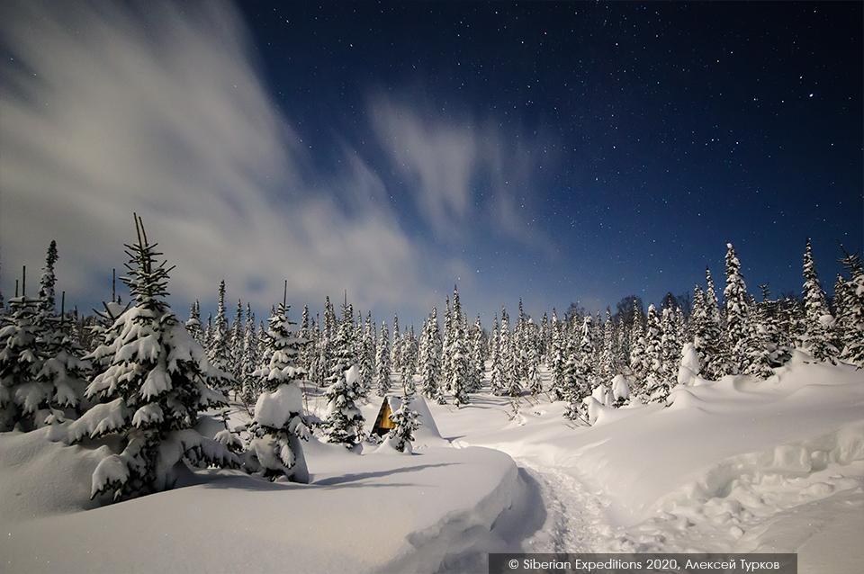 Лыжный тур по Сибири 2020, Поднебесные Зубья. Ночь над Рубановским станом
