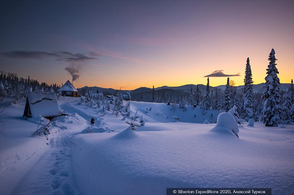Лыжный тур 2020 в Сибири, Поднебесные Зубья. Рубановский стан на рассвете
