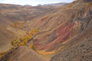 Марсианские пейзажи в сентябре, осенний Алтай