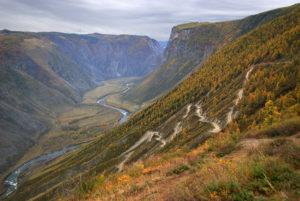 Перевал Кату-Ярык в сентябре осенью, Горный Алтай